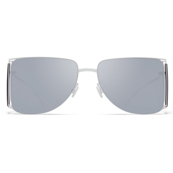 Mykita - HL002 - Mykita & Helmut Lang - White Silver - Metal Collection - Sunglasses - Mykita Eyewear