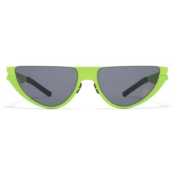 Mykita - Kitt - Mykita & Martine Rose - Lime Dark Grey - Metal Collection - Sunglasses - Mykita Eyewear