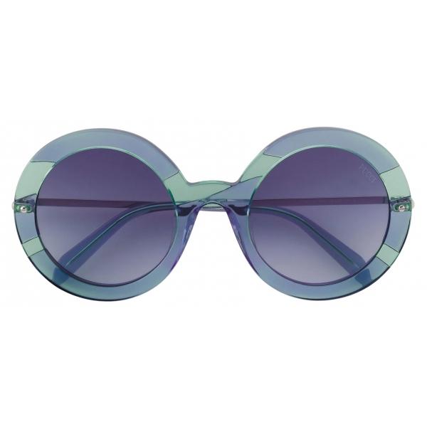 Emilio Pucci - Occhiali da Sole Rotondi - Blu - Occhiali da Sole - Emilio Pucci Eyewear