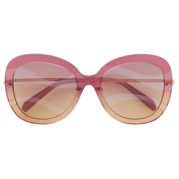 Emilio Pucci - Butterfly Frame Wave-Effect Sunglasses - Pink - Sunglasses - Emilio Pucci Eyewear
