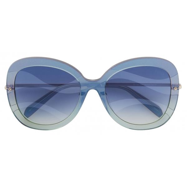 Emilio Pucci - Occhiali da Sole a Farfalla - Blu Verde - Occhiali da Sole - Emilio Pucci Eyewear