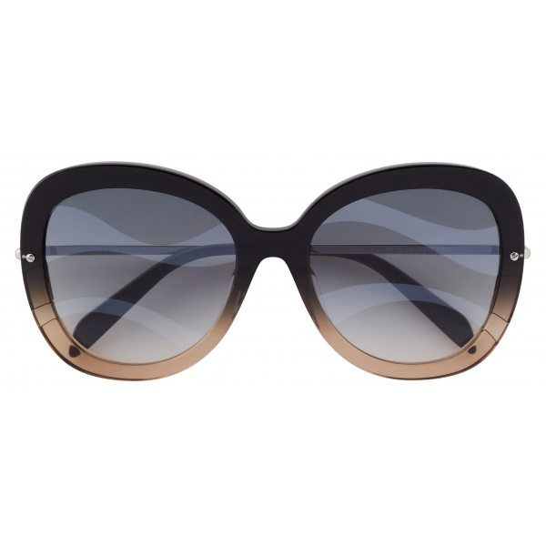 Emilio Pucci - Butterfly Frame Wave-Effect Sunglasses - Black - Sunglasses - Emilio Pucci Eyewear