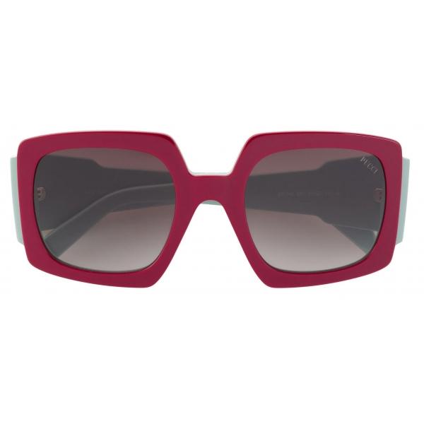 Emilio Pucci - Occhiali da Sole Rettangolari con Stampa Alex - Rosa Verde - Occhiali da Sole - Emilio Pucci Eyewear