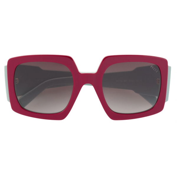 Emilio Pucci - Square Frame Alex Print Sunglasses - Pink Green - Sunglasses - Emilio Pucci Eyewear