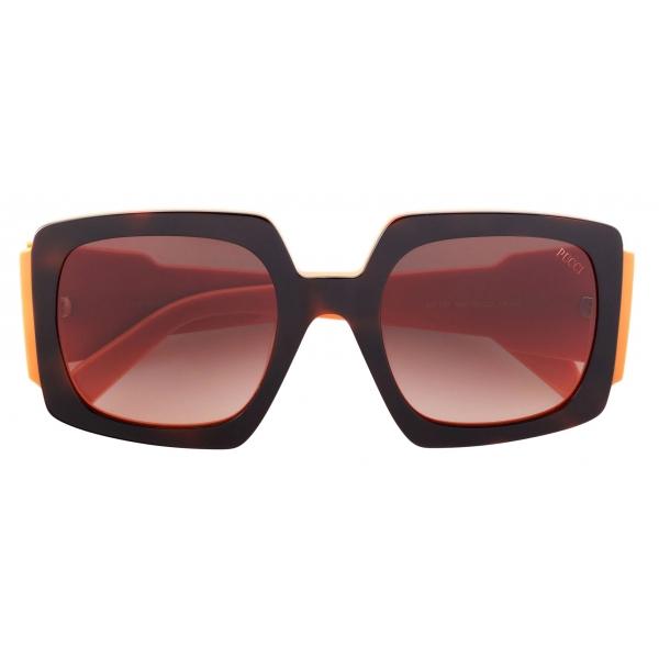 Emilio Pucci - Occhiali da Sole Rettangolari con Color-Block - Blu Arancione - Occhiali da Sole - Emilio Pucci Eyewear