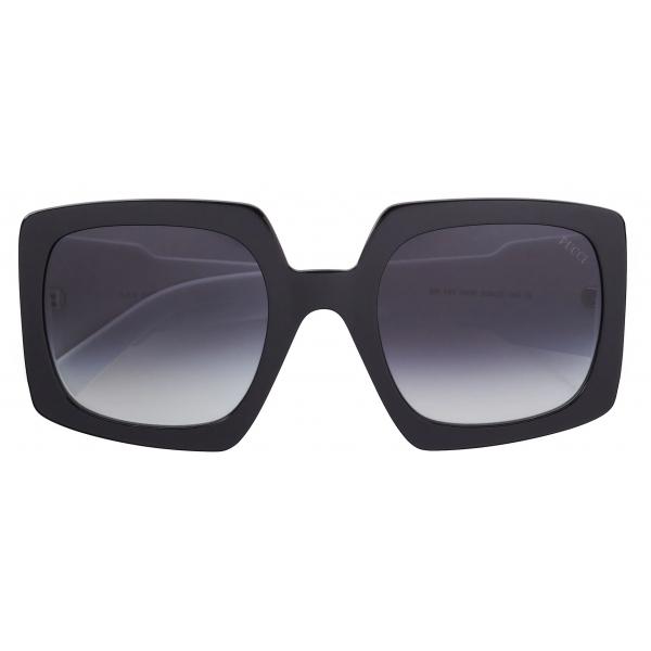 Emilio Pucci - Square Frame Alex Print Sunglasses - Black - Sunglasses - Emilio Pucci Eyewear