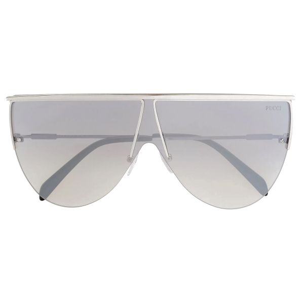 Emilio Pucci - Frameless Shield Aviator Sunglasses - Black - Sunglasses - Emilio Pucci Eyewear