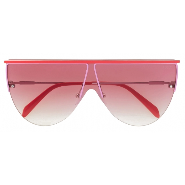 Emilio Pucci - Pink Frameless Shield Aviator Sunglasses - Pink - Sunglasses - Emilio Pucci Eyewear