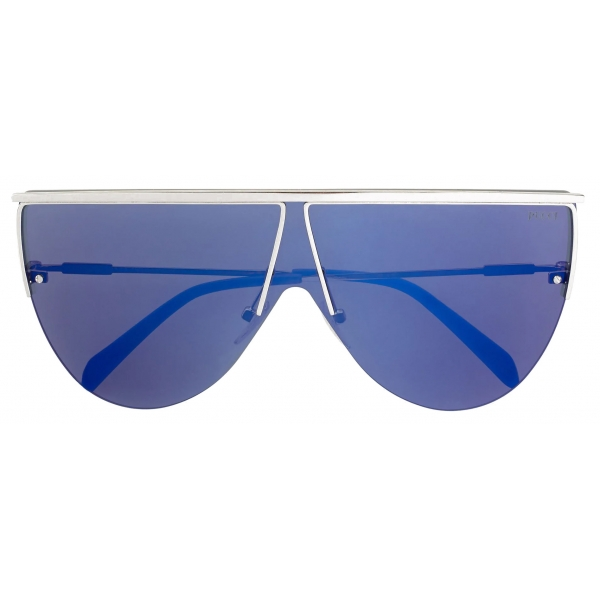 Emilio Pucci - Blue Frameless Shield Aviator Sunglasses - Blue - Sunglasses - Emilio Pucci Eyewear