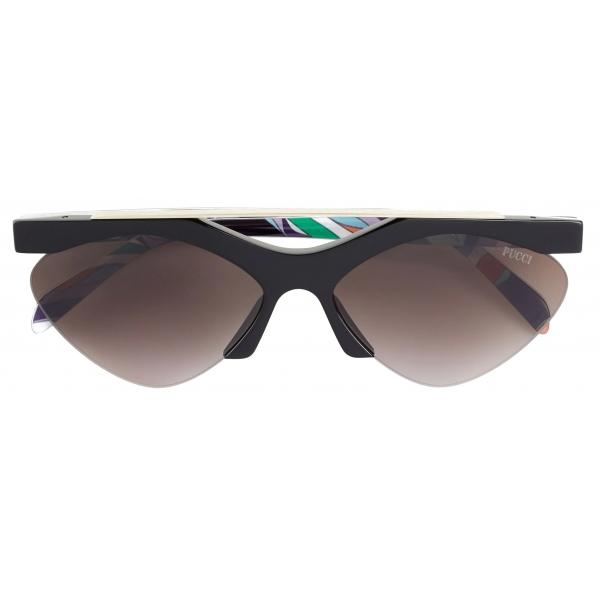 Emilio Pucci - Occhiali da Sole con Stampa Burle - Nero - Occhiali da Sole - Emilio Pucci Eyewear