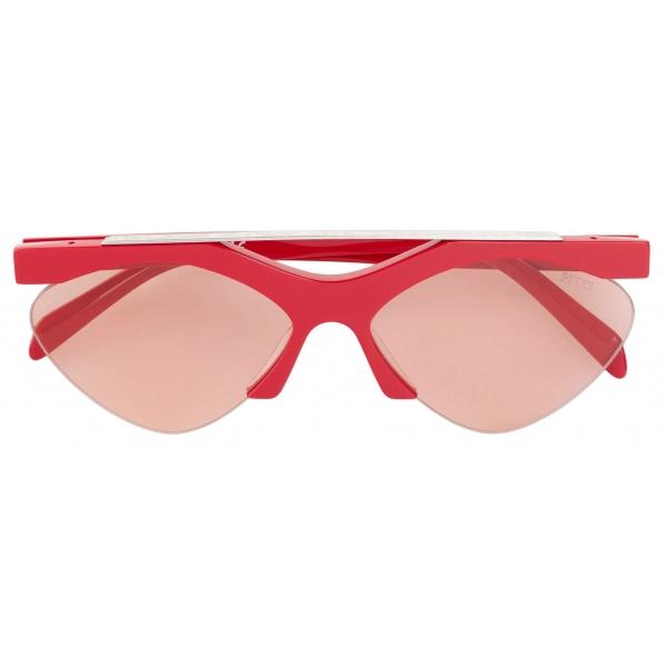 Emilio Pucci - Geometric Frame Print Sunglasses - Red - Sunglasses - Emilio Pucci Eyewear