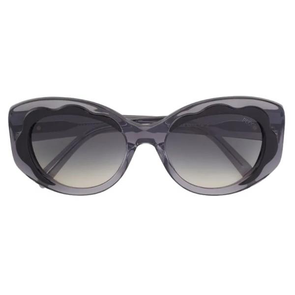 Emilio Pucci - Black Wavy Motif Round  Sunglasses - Black - Sunglasses - Emilio Pucci Eyewear
