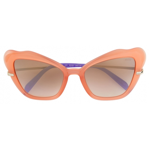 Emilio Pucci - Orange Butterfly Frame Sunglasses - Orange - Sunglasses - Emilio Pucci Eyewear