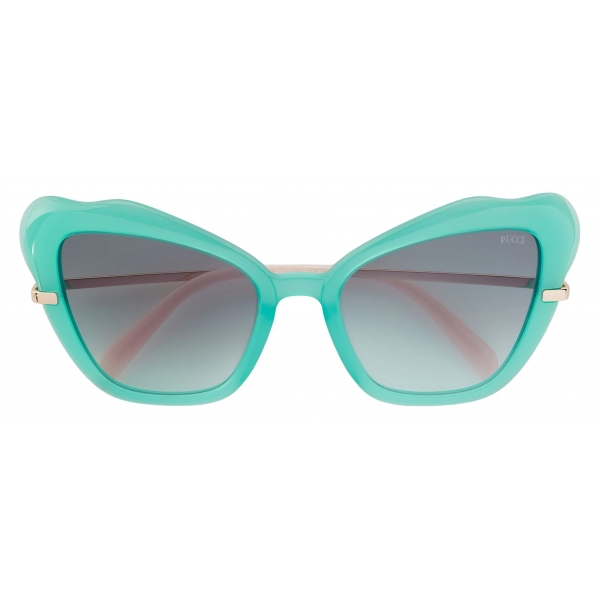Emilio Pucci - Butterfly Frame Sunglasses - Green - Sunglasses - Emilio Pucci Eyewear
