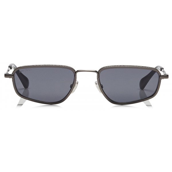 Jimmy Choo - Gal - Grey Fashion Sunglasses with Black Frame - Jimmy Choo Eyewear
