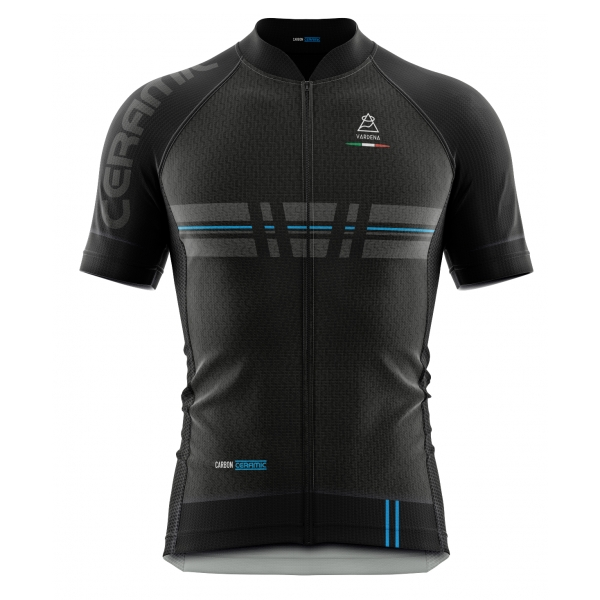 Vardena - Cut Line - Black - Carbon Ceramic Jersey - New Collection - Made in Italy - Luxury High Quality