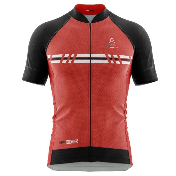 Vardena - Super C Line - Red - Carbon Ceramic Jersey - New Collection - Made in Italy - Luxury High Quality