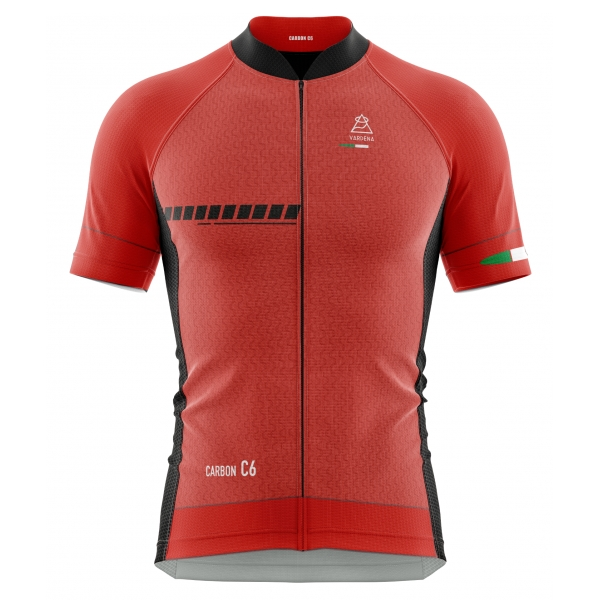 Vardena - F1 Red - Full Carbon Jersey - New Collection - Made in Italy - Luxury High Quality