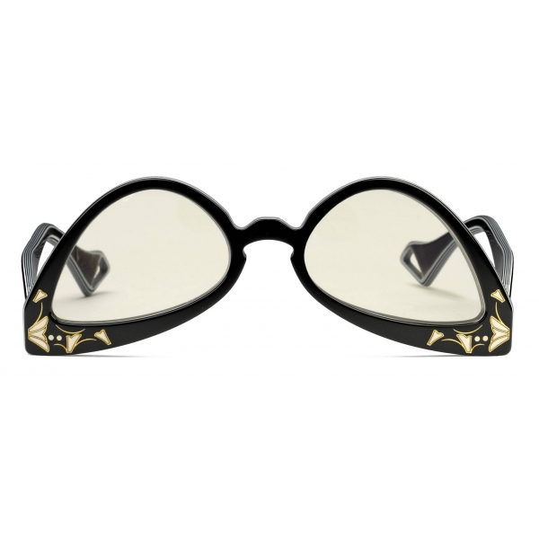 Gucci - Inverted Cat Eye Sunglasses - Black White - Gucci Eyewear