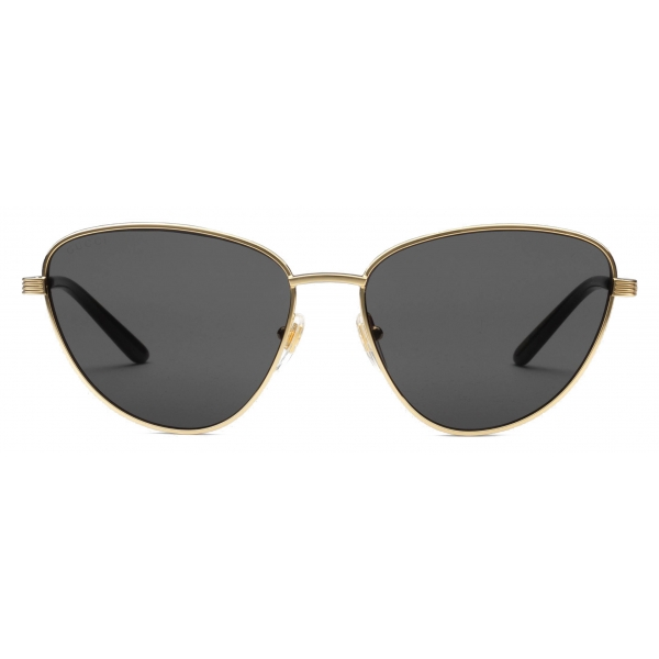 Gucci - Cat Eye Sunglasses - Grey Gold - Gucci Eyewear