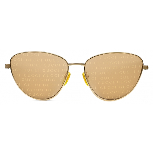 Gucci - Cat Eye Sunglasses - Gold Orange - Gucci Eyewear