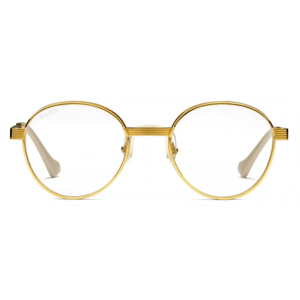 Gucci - Round-Frame Sunglasses - Gold Yellow - Gucci Eyewear