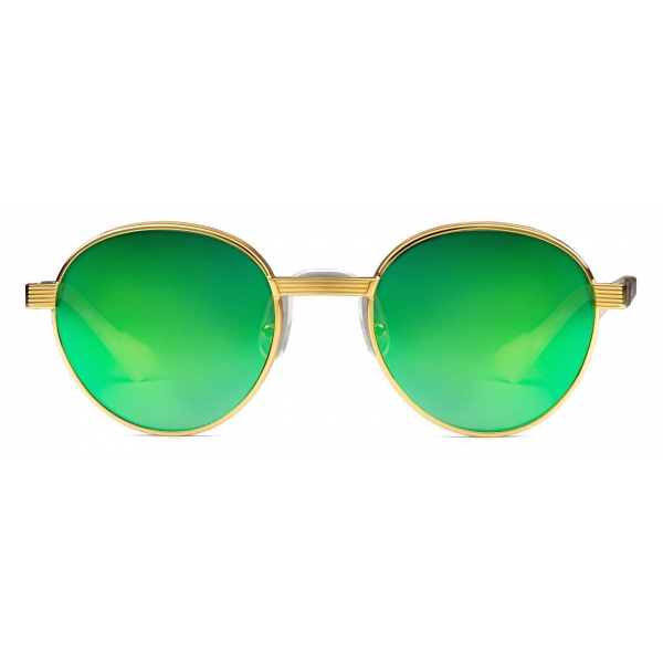 Gucci - Round-Frame Sunglasses - Gold Green - Gucci Eyewear