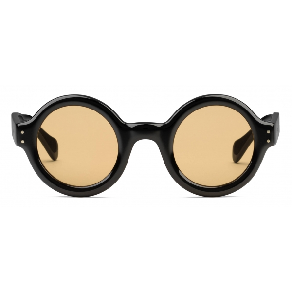 Gucci - Round-Frame Sunglasses - Black Yellow - Gucci Eyewear