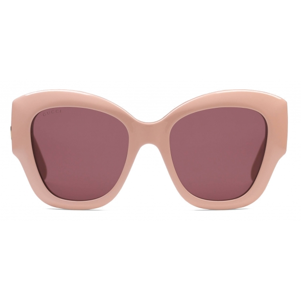 Gucci - Occhiali da Sole Cat Eye - Rosa Bordeaux - Gucci Eyewear