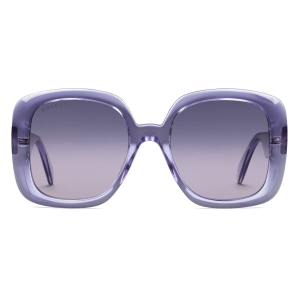 Gucci - Square Sunglasses - Purple - Gucci Eyewear