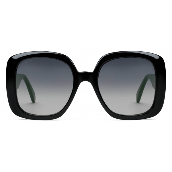 Gucci - Square Sunglasses with Web - Black - Gucci Eyewear