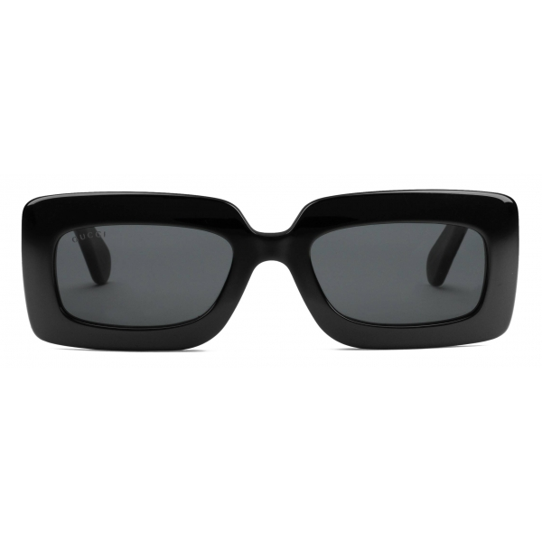 Gucci - Rectangular-Frame Sunglasses - Black - Gucci Eyewear
