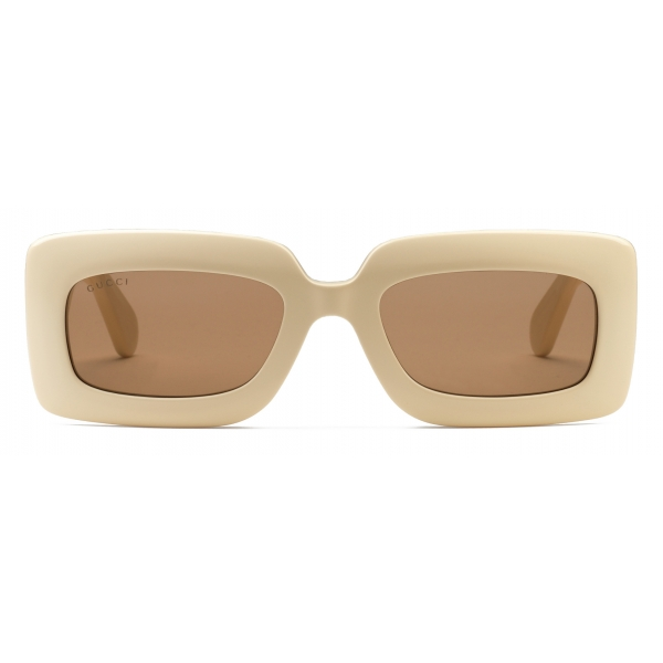 Gucci - Rectangular-Frame Sunglasses - Ivory - Gucci Eyewear