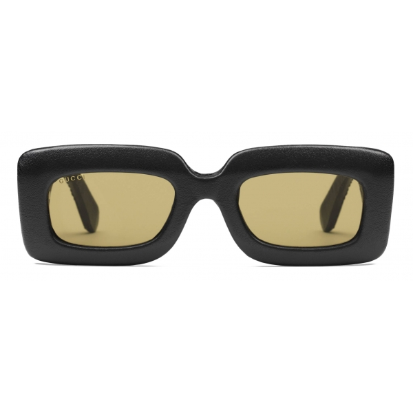 Gucci - Rectangular Frame Ayers Sunglasses - Black - Gucci Eyewear