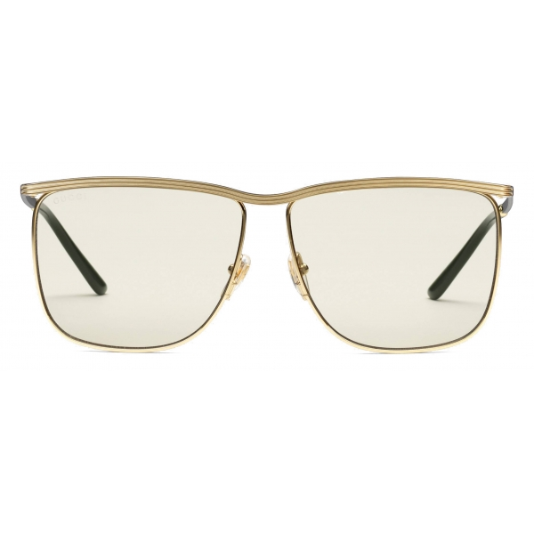 Gucci - Square-Frame Sunglasses - Gold - Gucci Eyewear