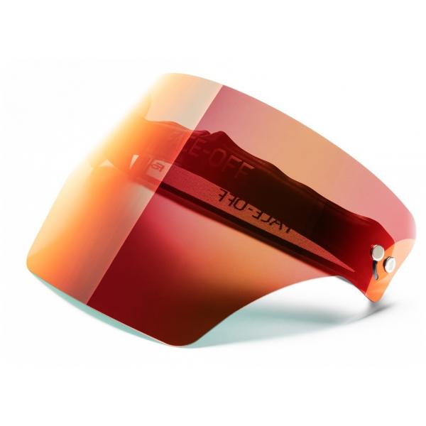 Face Off - Visiera Polarizzata - Rosso Fuoco - Fashion Luxury - Face Off Eyewear - Maschera Protezione Covid