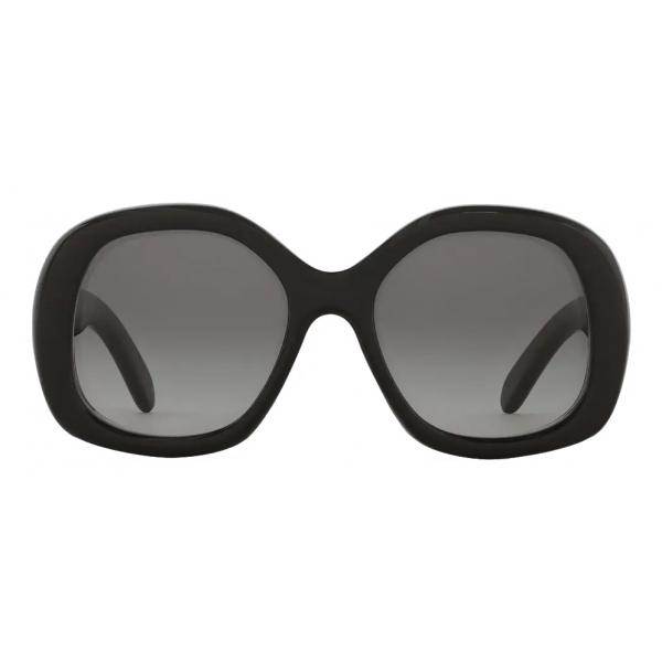 Céline - Round S163 Sunglasses in Acetate - Black - Sunglasses - Céline Eyewear