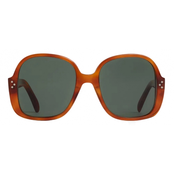 Céline - Oversized S158 Sunglasses in Acetate - Light Havana - Sunglasses - Céline Eyewear
