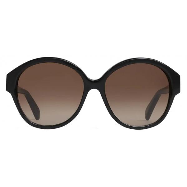 Céline - Maillon Triomphe 01 Sunglasses in Acetate - Black - Sunglasses - Céline Eyewear