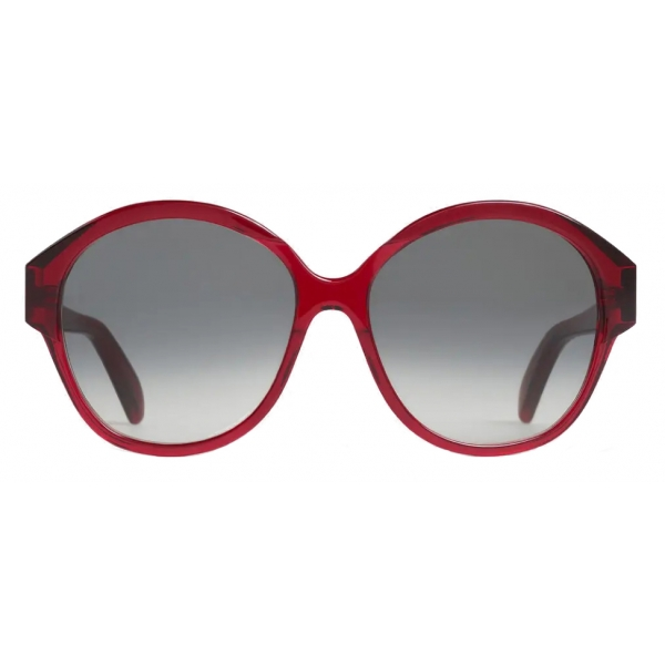 Céline - Maillon Triomphe 01 Sunglasses in Acetate - Transparent Burgundy - Sunglasses - Céline Eyewear
