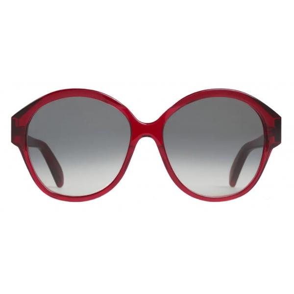Céline - Occhiali da Sole Maillon Triomphe 01 in Acetato - Bordeaux Traslucido - Occhiali da Sole - Céline Eyewear