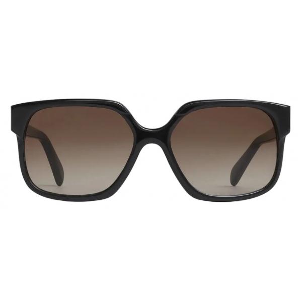 Céline - Maillon Triomphe 02 Sunglasses in Acetate - Black - Sunglasses - Céline Eyewear