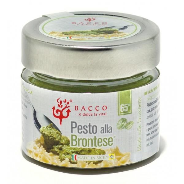 Bacco - Tipicità al Pistacchio - Pesto alla Brontese 65 % - Pistachio from Bronte - 90 g