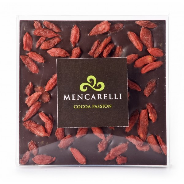 Mencarelli Cocoa Passion - Dark Chocolate and Goji Berries - Tablet Chocolate 70 g
