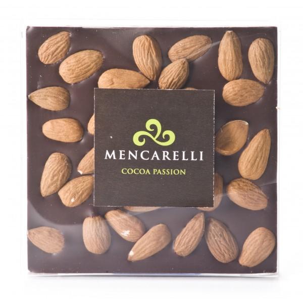 Mencarelli Cocoa Passion - Cioccolato Fondente e Mandorla - Tavoletta Cioccolato 80 g