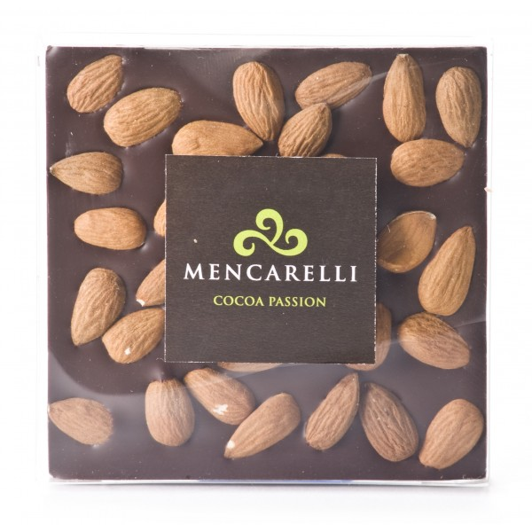 Mencarelli Cocoa Passion - Dark Chocolate and Almond - Tablet Chocolate 80 g