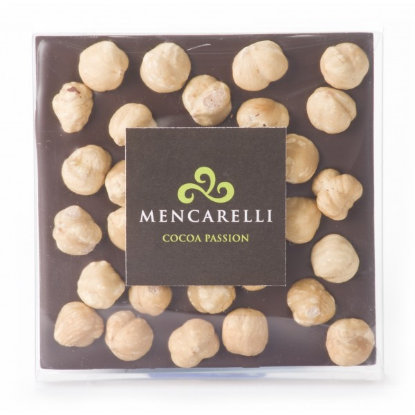Mencarelli Cocoa Passion - Dark Chocolate and Hazelnut - Tablet Chocolate 80 g