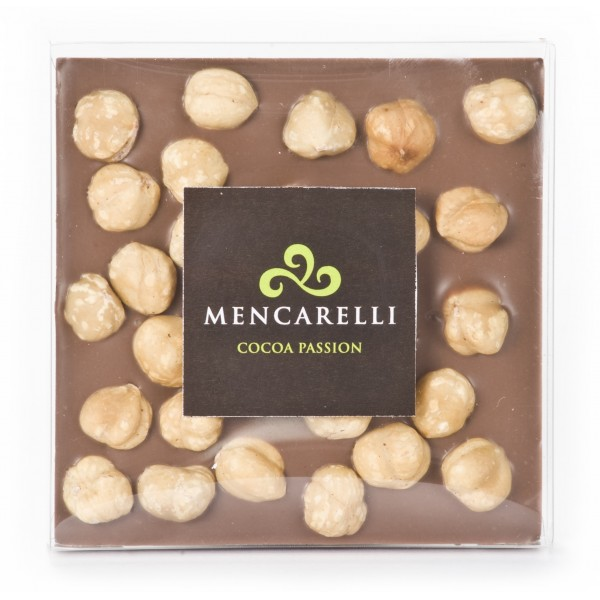 Mencarelli Cocoa Passion - Milk Chocolate and Hazelnut - Tablet Chocolate 80 g