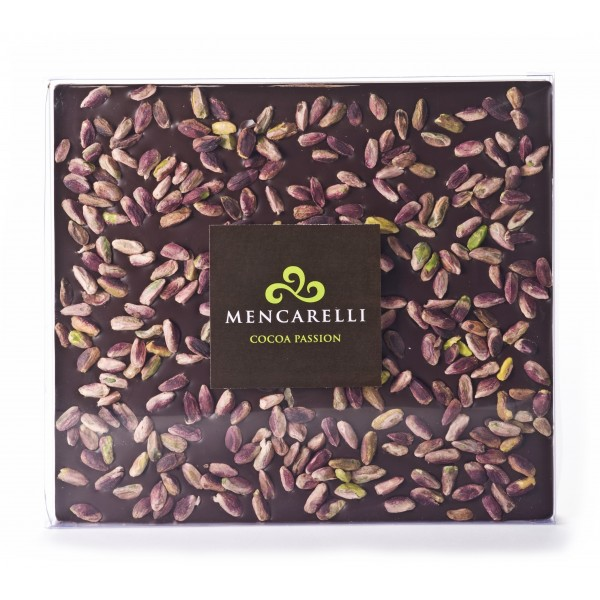 Mencarelli Cocoa Passion - Dark Chocolate and Pistachio - Tablet Chocolate 500 g