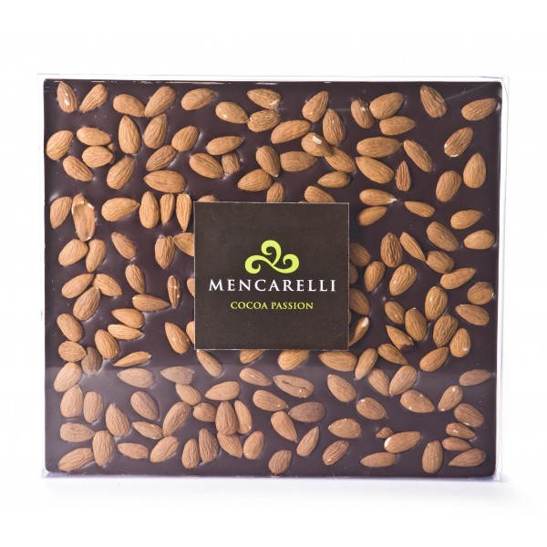 Mencarelli Cocoa Passion - Dark Chocolate and Almond - Tablet Chocolate 500 g
